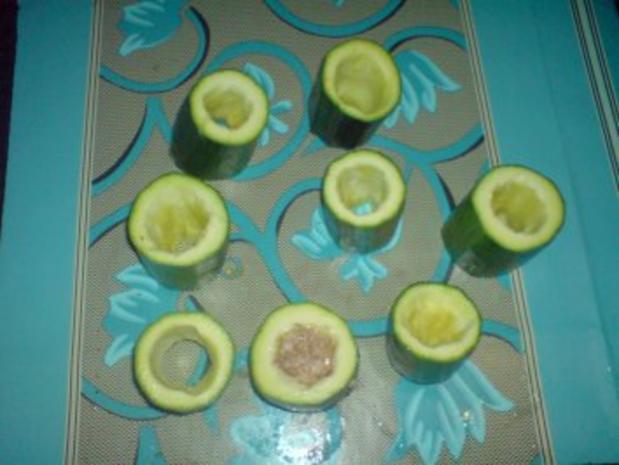 Gefüllte Zucchiniröllchen - Rezept