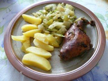 Geflügel - Putenkeule mit Fenchelgemüse - Rezept