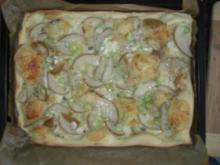 Gorgonzola - Birnen - Pizza - Rezept
