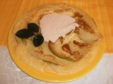 Pfannkuchen Helene mit Joghurtcreme - Rezept