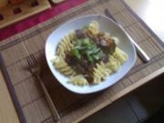 Pilz - Rinder - Gulasch - Rezept