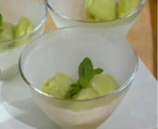Limettensorbet mit Basilikum - Rezept