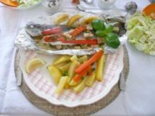 Fisch :  Forelle in Folie - Rezept