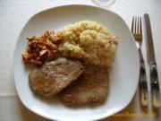 Pfifferlingrisotto mit Steaks vom Rind - Rezept