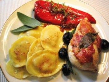 """Hähnchenbrüstchen """"Italia"""" - von der Saltimbocca inspiriert - Rezept"""