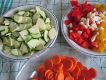 Gemüsefrikasseé mit Kokos - Rezept