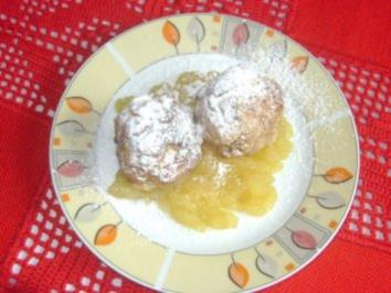 gebackene Apfelknödel mit Apfelmus - Rezept