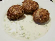 Kochen: Griechische Frikadellen mit Dip - Rezept