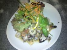Yam Taheh - sauer, scharfer Thai - Salat mit Meeresfrüchten - Rezept