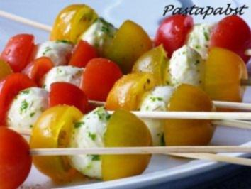 Mozzarella auf Tomate - Rezept