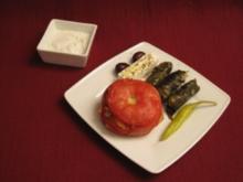 Gefüllte Weinbergblätter und gefüllte Tomaten - Rezept