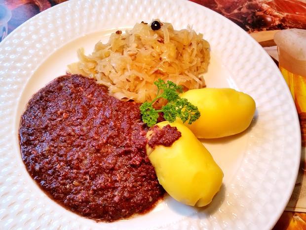 Finsel mit Sauerkraut und Pellkartoffeln - Hausmannskost pur - Rezept - Bild Nr. 8