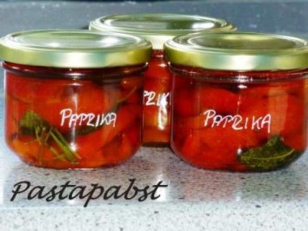 Paprika eingelegt - Rezept