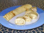 Pfannkuchen-Röllchen mit herzhafter Frischkäse-Creme - Rezept