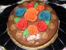 Nuss-Kirschkuchen mit Deko.... 2 Jahre Kochbar :-) - Rezept