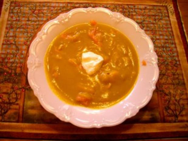 Kürbissuppe mit Räucherlachs - Rezept - Bild Nr. 2