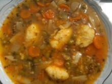 Gemüse-Süppchen mit Rindfleisch gekocht und  einer - Rezept