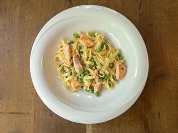 Spaghetti mit Stremellachs (die schnelle Variante) - Rezept - Bild Nr. 2