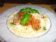 Spaghettini mit Champignon Bolognese - Rezept
