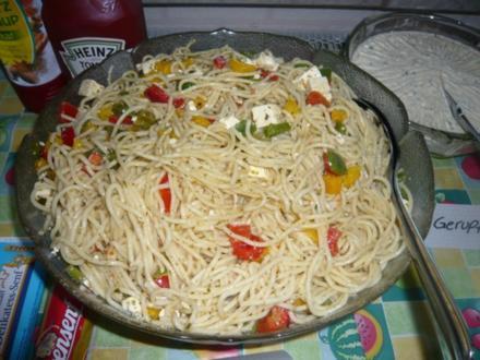 Spaghettisalat nach Brigittes Art - Rezept
