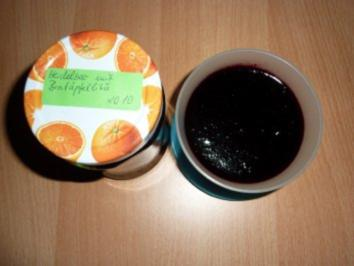 Marmelade: Heidelbeermarmelade mit Bratapfellikör - Rezept