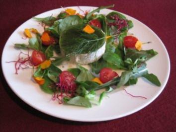 Räucherforellentörtchen auf Tomaten-Rucola-Salat - Rezept