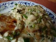 Steinpilze in Ziegenfrischkäse-Sauce mit Minutenschnitzel - Rezept