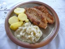 Fisch : Rotbarschfilet mit Schmorgurken in Meerettichsoße an Salzkartoffeln - Rezept