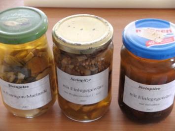 Pilze: Steinpilze eingelegt - Rezept