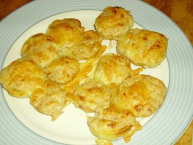 Überbackene Kartoffelscheiben - Rezept
