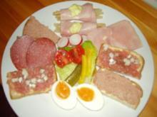 """Kleiner """"bunter"""" Teller!      Mein Snack für nen Fußball-/ Fernsehabend - Rezept"""