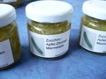 Zucchini - Apfel - Marmelade - Rezept