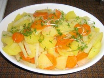 Kartoffel-Karotten-Kohlrabigemüse - Rezept