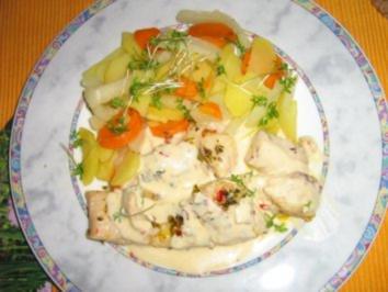 Viktoriabarsch in Kräutern gebraten mit Zitronen-Sauce - Rezept