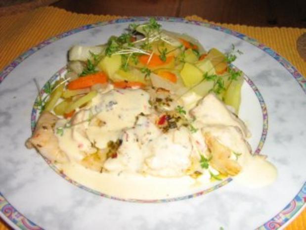 Viktoriabarsch in Kräutern gebraten mit Zitronen-Sauce - Rezept - Bild Nr. 5