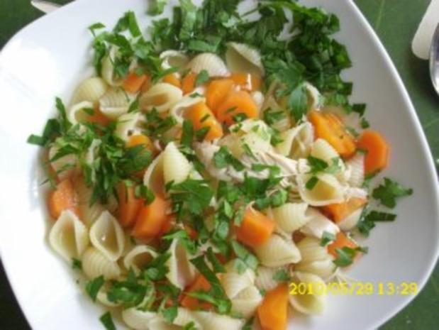 Suppe : Gesundheits´ süppchen vom Huhn, und alles wird gut ! - Rezept - Bild Nr. 2