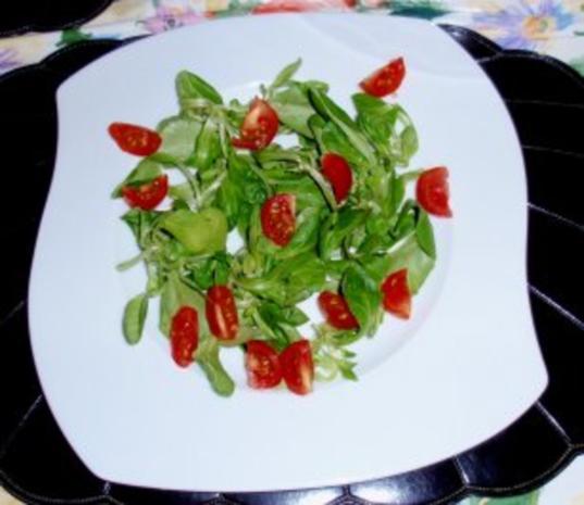 Feldsalat mit Garnelenspieße - Rezept - Bild Nr. 3