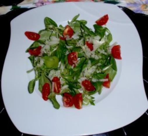 Feldsalat mit Garnelenspieße - Rezept - Bild Nr. 4