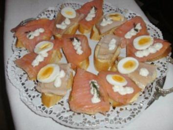 Lachs + Forellenhäppchen - Rezept