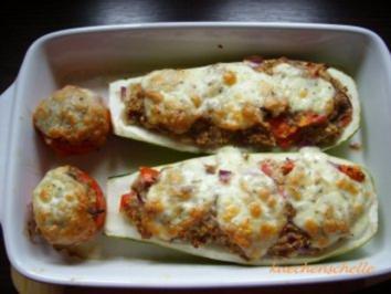 Gefüllter Zucchini trifft gefüllte Tomate - Rezept