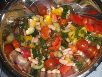 Weiße Bohnen Salat mit getrockneten Tomaten - Rezept
