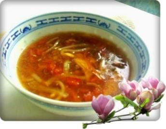Asiatisch - Pekingsuppe süß-sauer - Rezept