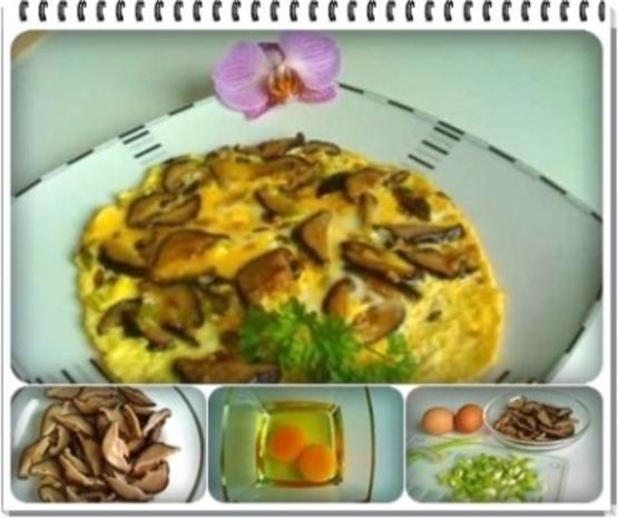 Asiatisch - Shiitake mit Eier und Frühlingszwiebeln - Rezept - Bild Nr. 2