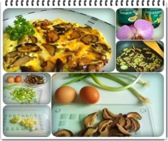 Asiatisch - Shiitake mit Eier und Frühlingszwiebeln - Rezept - Bild Nr. 14