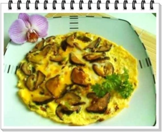 Asiatisch - Shiitake mit Eier und Frühlingszwiebeln - Rezept - Bild Nr. 12