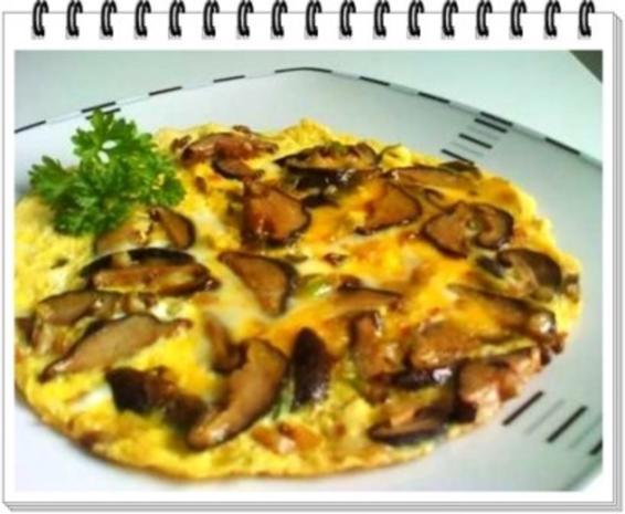 Asiatisch - Shiitake mit Eier und Frühlingszwiebeln - Rezept - Bild Nr. 15