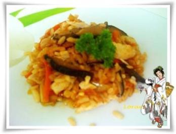 Asiatisch - Shiitake mit Reis und Gemüse - Rezept