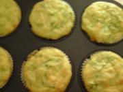 Maismehl-Muffins mit Käse und Zucchini - Rezept