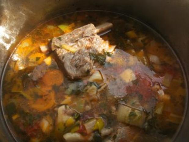 Nudelsuppe mit Rindfleisch gekocht - Rezept - Bild Nr. 5