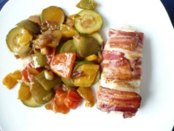Hähnchenfilet mit Zucchini - Paprika- Gemüse - Rezept